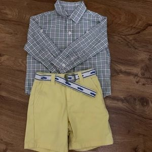 Janie and jack boys shirt and shorts 18/24 months